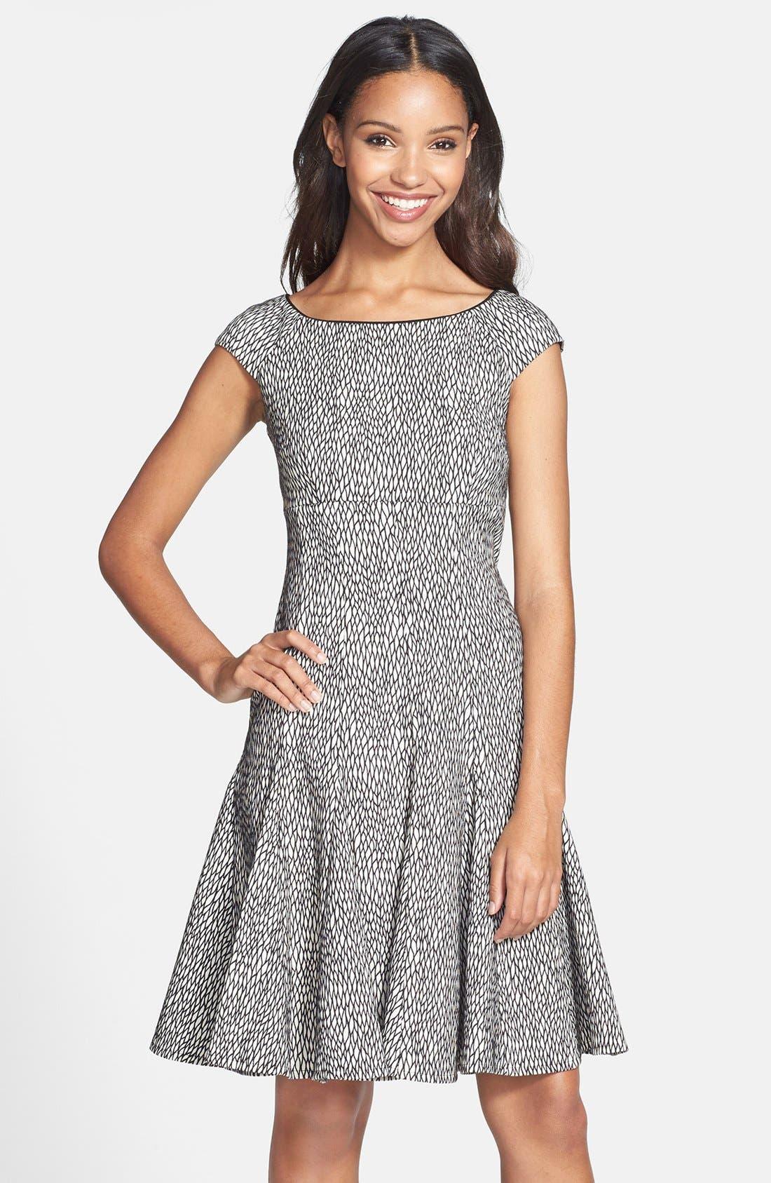 Main Image - Gabby Skye Jacquard Fit & Flare Dress