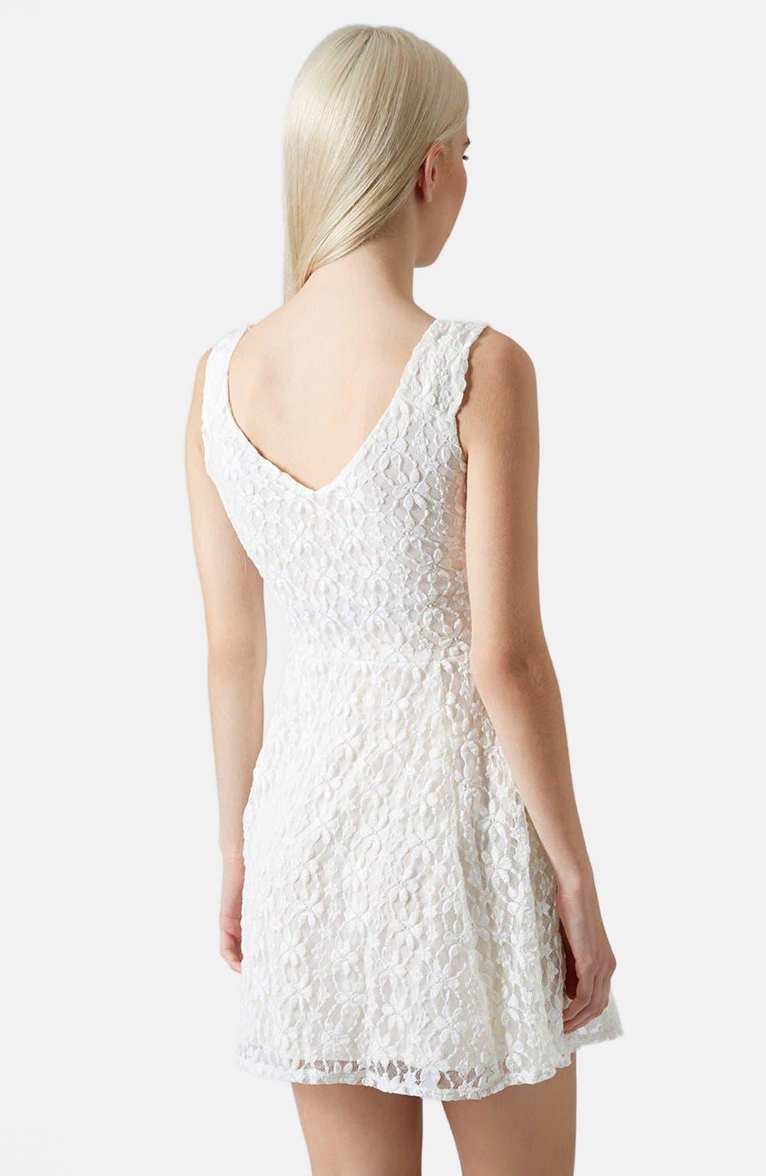 Alternate Image 2  - Topshop Daisy Lace Skater Dress