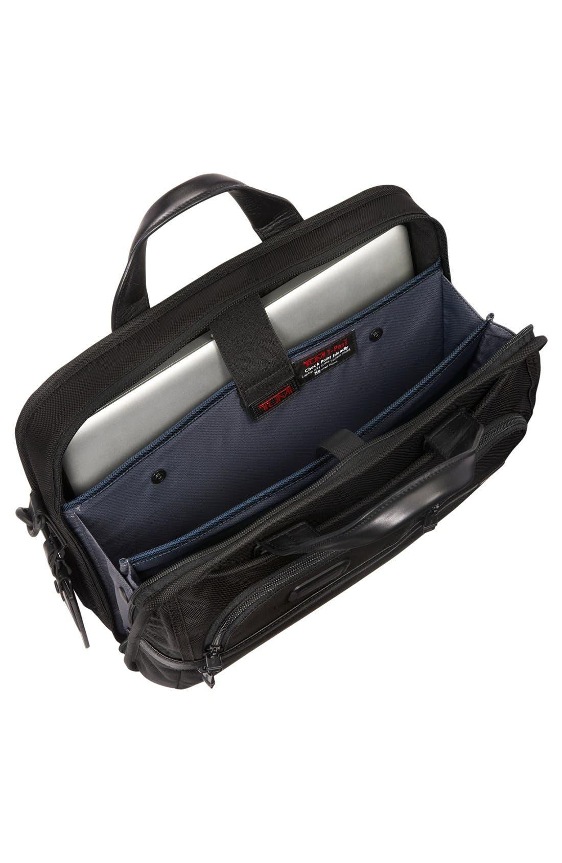 Alpha 2 T-Pass<sup>™</sup> Laptop Briefcase,                             Alternate thumbnail 3, color,                             Black