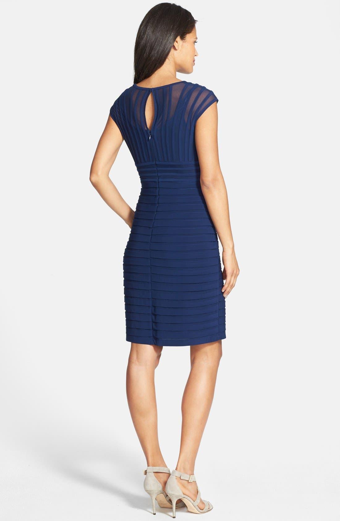 Alternate Image 2  - Adrianna Papell Shutter Pleat Jersey Sheath Dress (Regular & Petite)