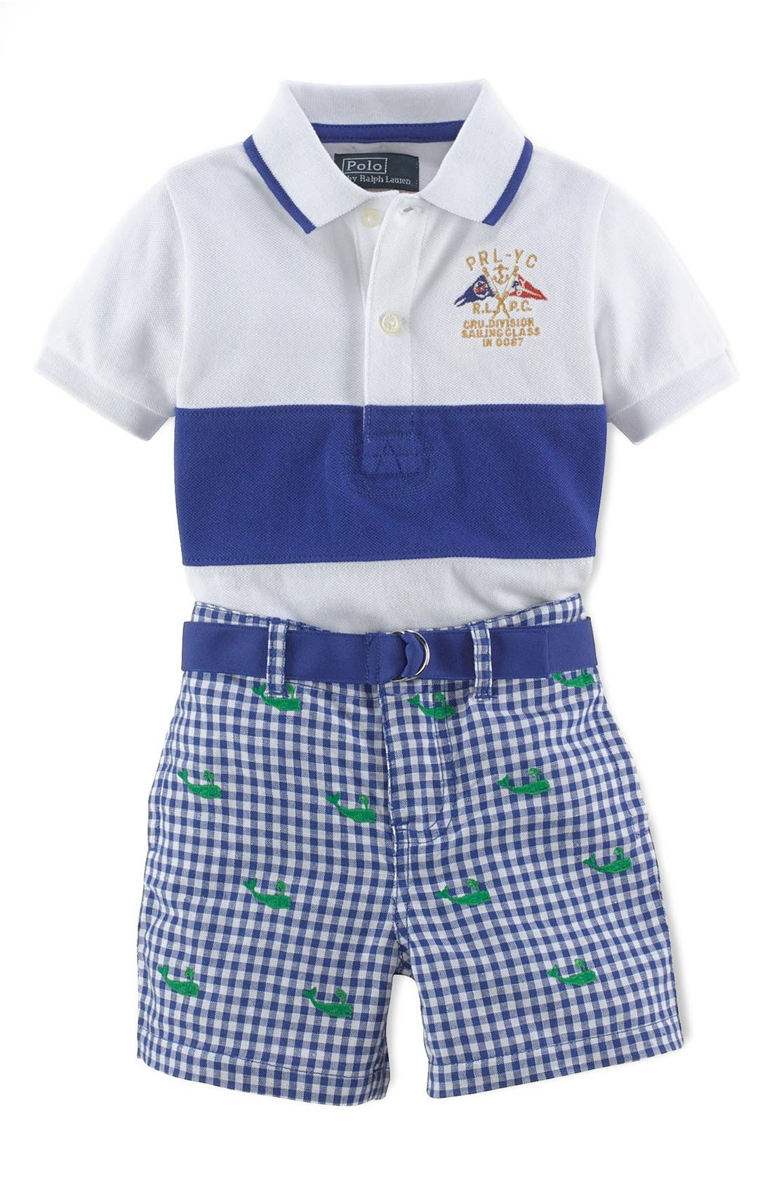 Alternate Image 1 Selected - Ralph Lauren Polo & Shorts (Baby Boys)