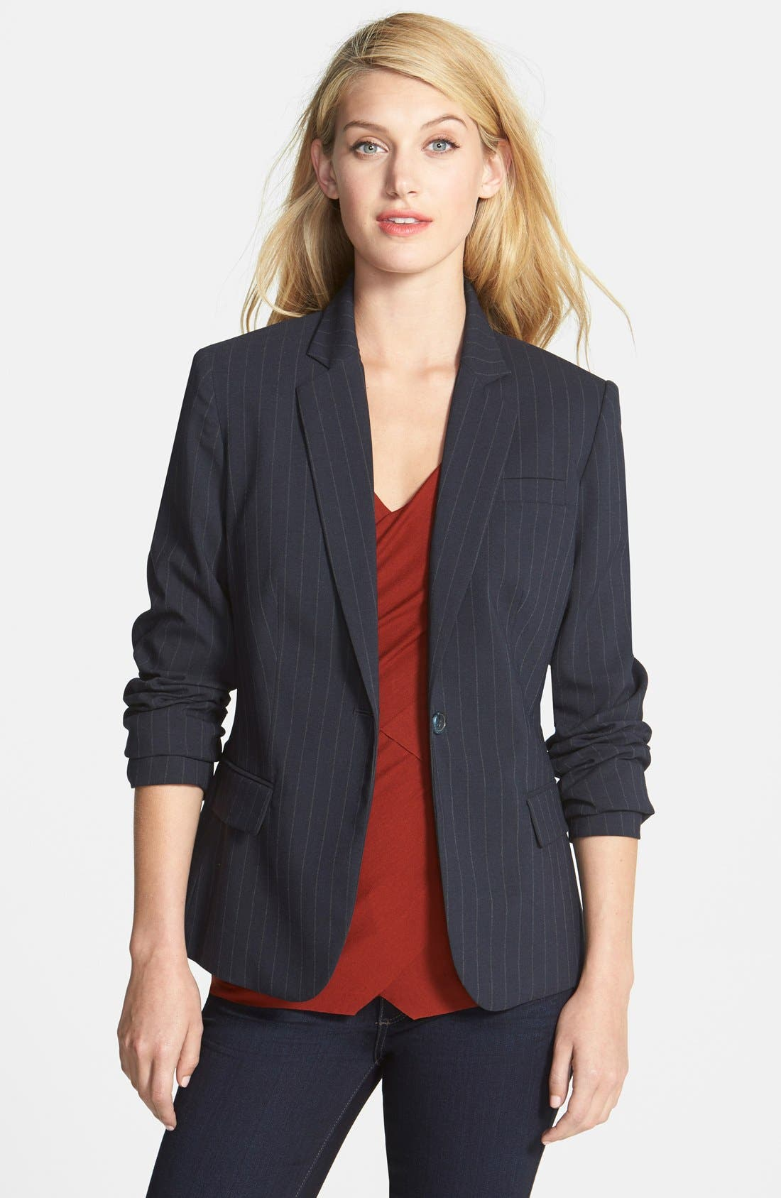Alternate Image 1 Selected - Vince Camuto One-Button Pinstripe Blazer