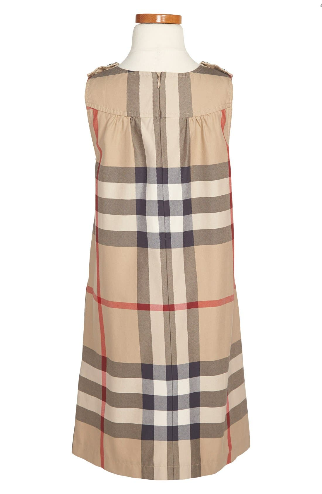 Alternate Image 2  - Burberry Check Print Dress (Little Girls & Big Girls)