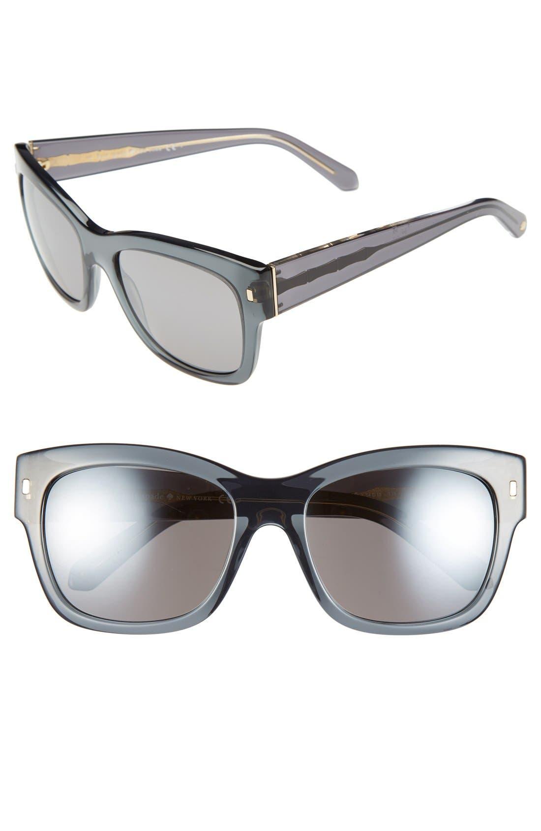 Main Image - kate spade new york 'tahira' 54mm retro sunglasses