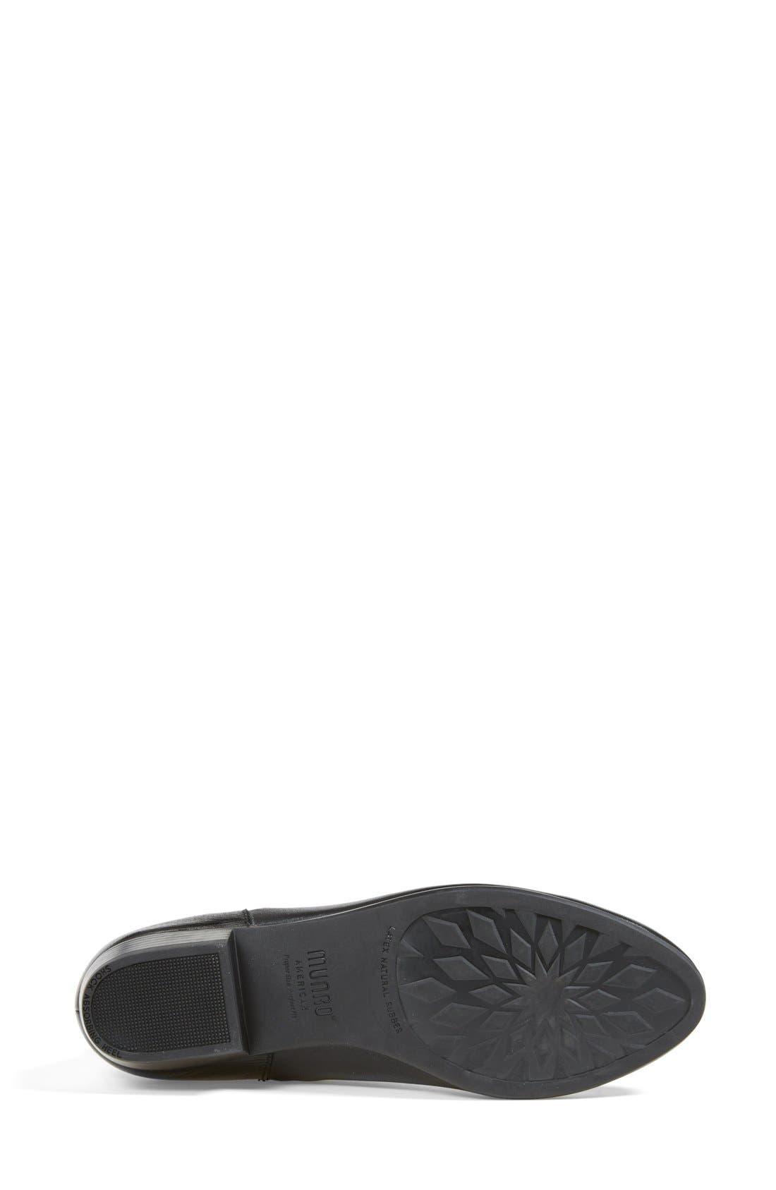 'Lexi' Boot,                             Alternate thumbnail 4, color,                             Black Leather