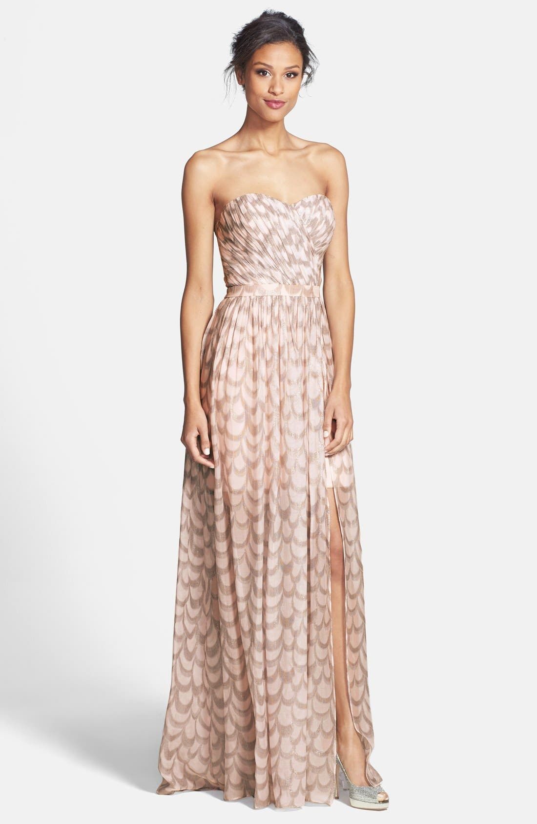 Alternate Image 1 Selected - ERIN erin fetherston 'Chloe' Foiled Chiffon Gown