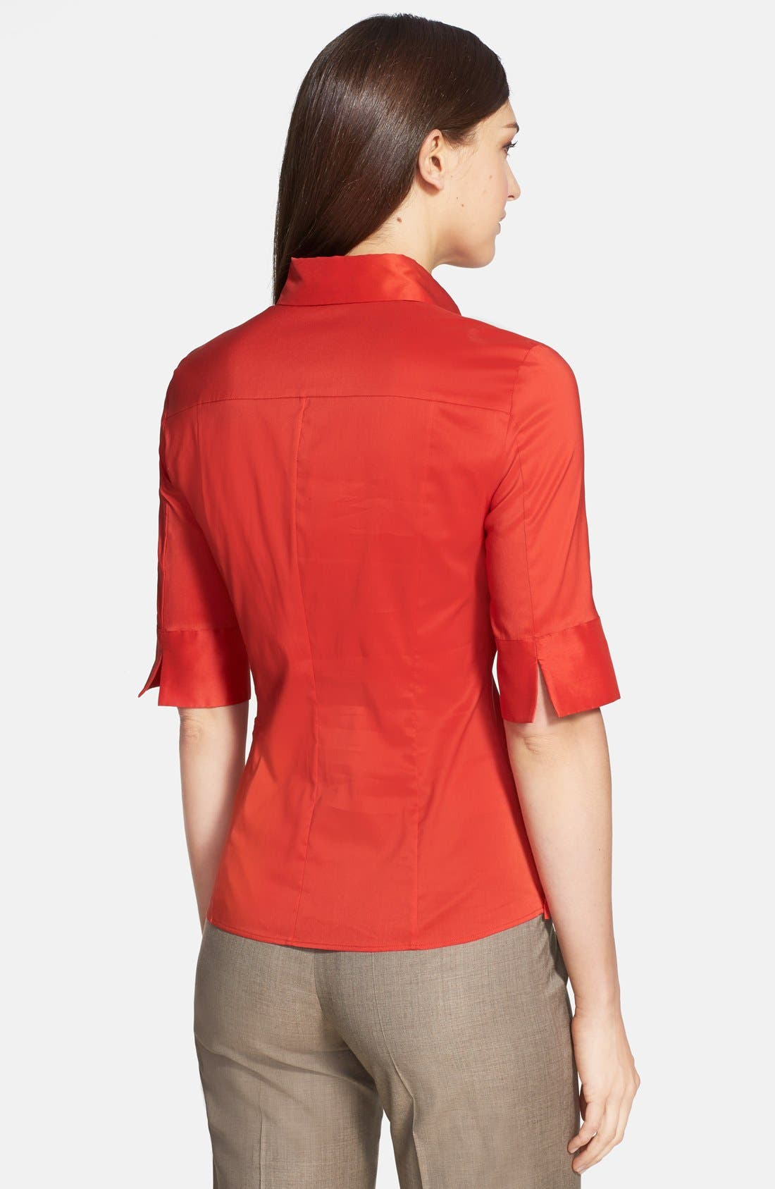 Alternate Image 2  - BOSS 'Bashini1' Side Zip Poplin Blouse