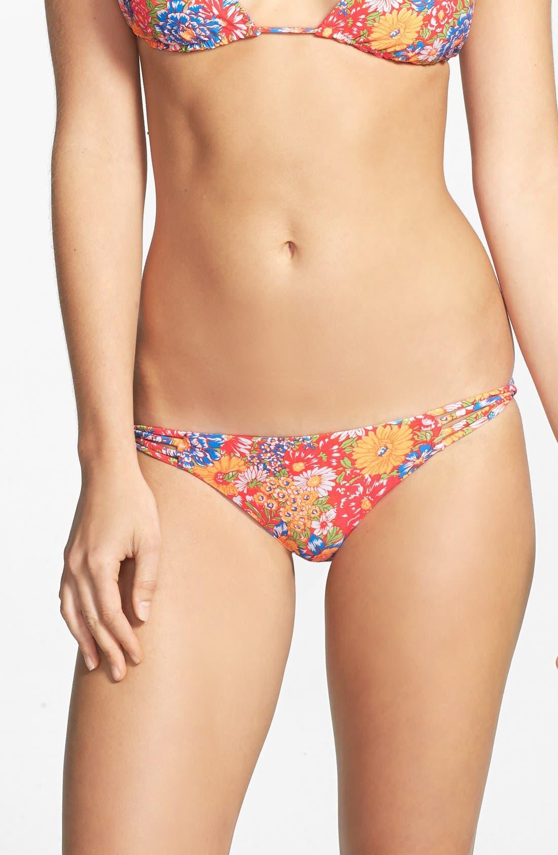 Alternate Image 1 Selected - O'Neill 'Citrus Floral' Reversible Strappy Twist Bikini Bottoms