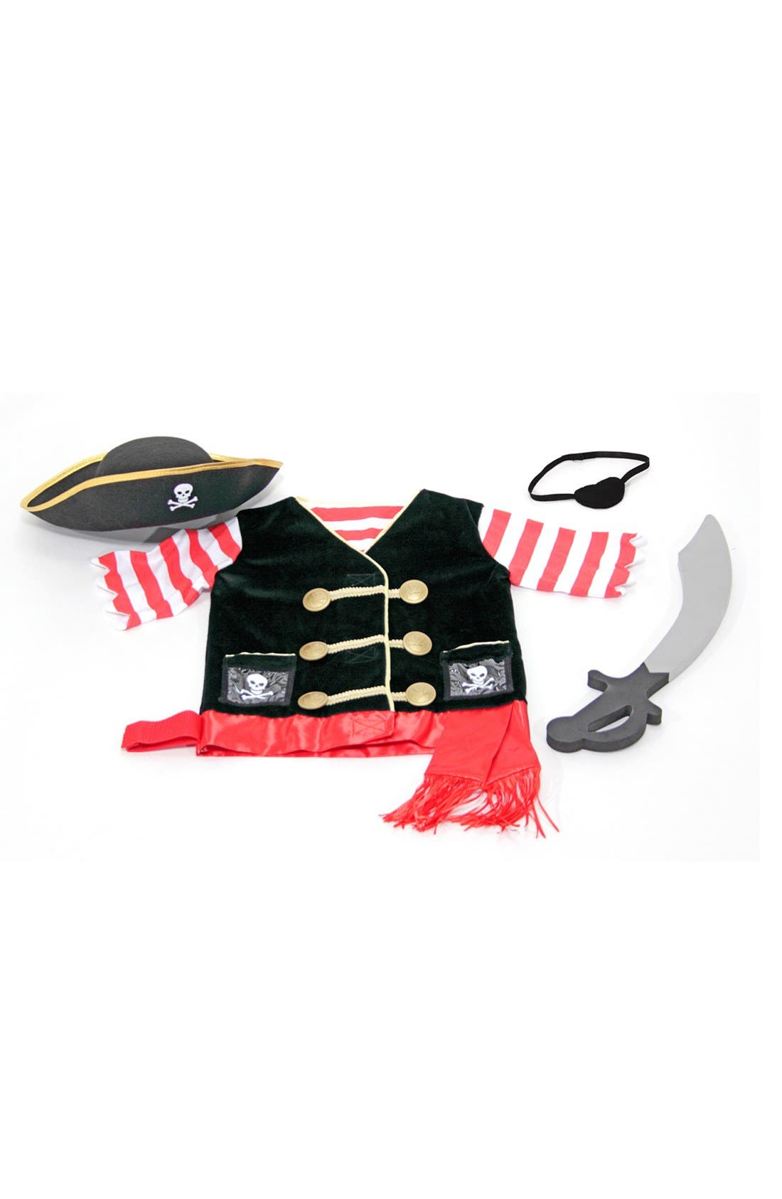 Personalized Pirate Costume,                             Alternate thumbnail 3, color,                             Black