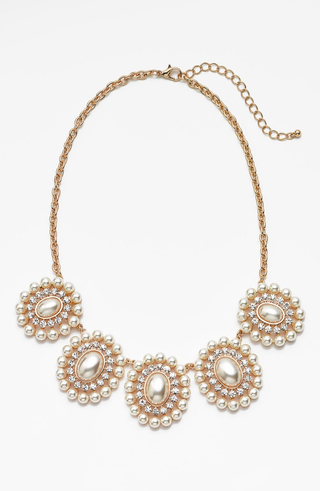 Main Image - BP. Pearl Cluster Statement Necklace (Juniors)