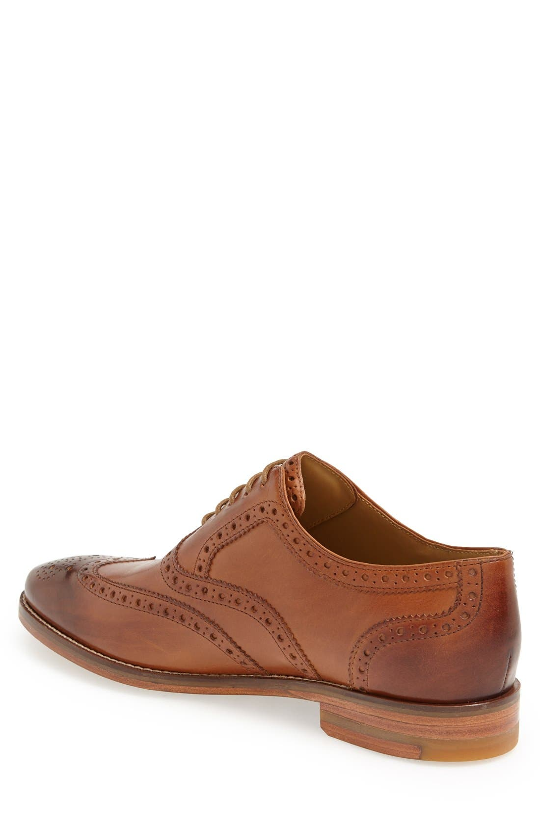 'Cambridge' Wingtip,                             Alternate thumbnail 2, color,                             British Tan Leather