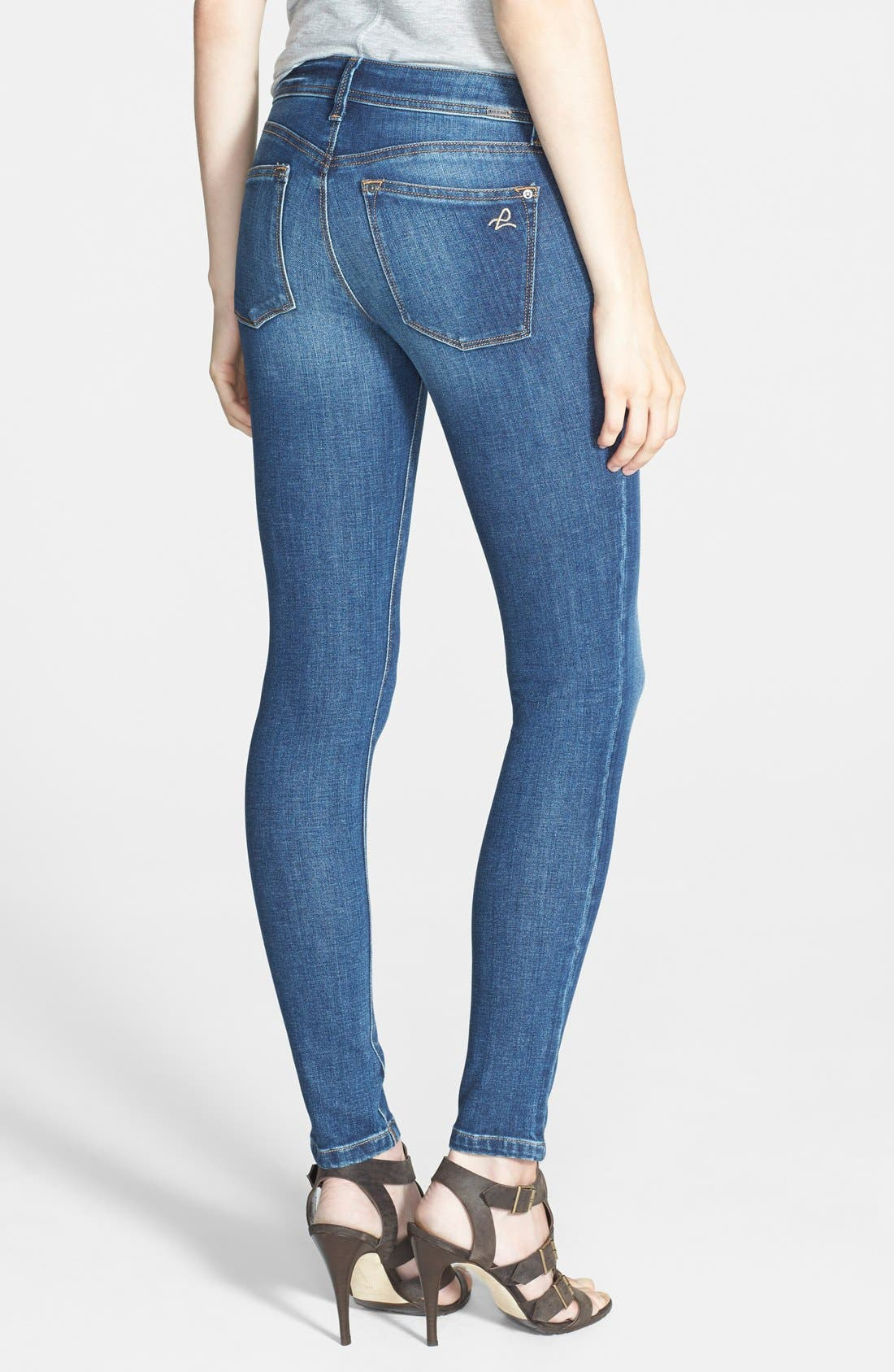 Alternate Image 2  - DL1961 'Emma' Power Legging Jeans (Cashel)