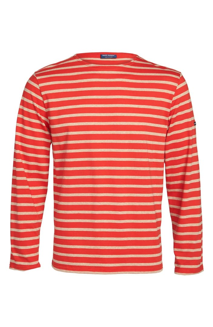 Saint james 39 minquiers 10 39 striped t shirt nordstrom for St james striped shirt