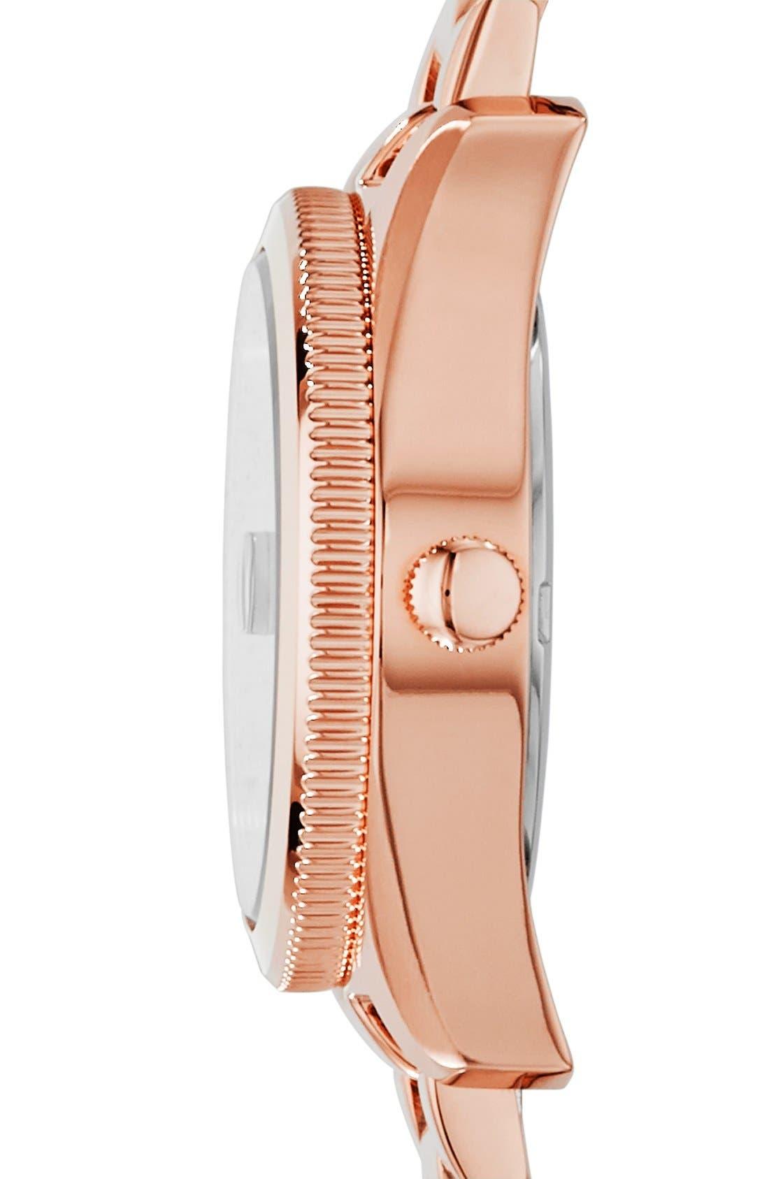 Alternate Image 3  - Fossil 'Perfect Boyfriend' Round Bracelet Watch, 28mm