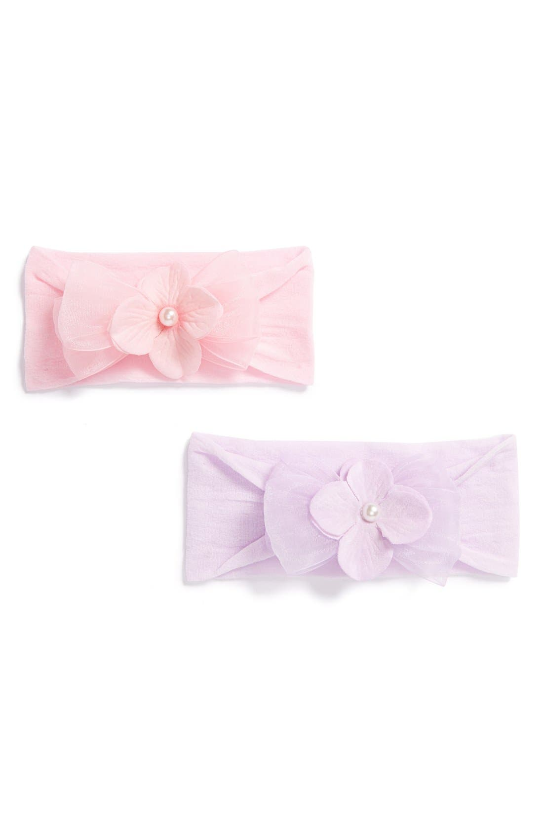 Alternate Image 1 Selected - Baby Bling Classic Headband (2-Pack) (Baby)