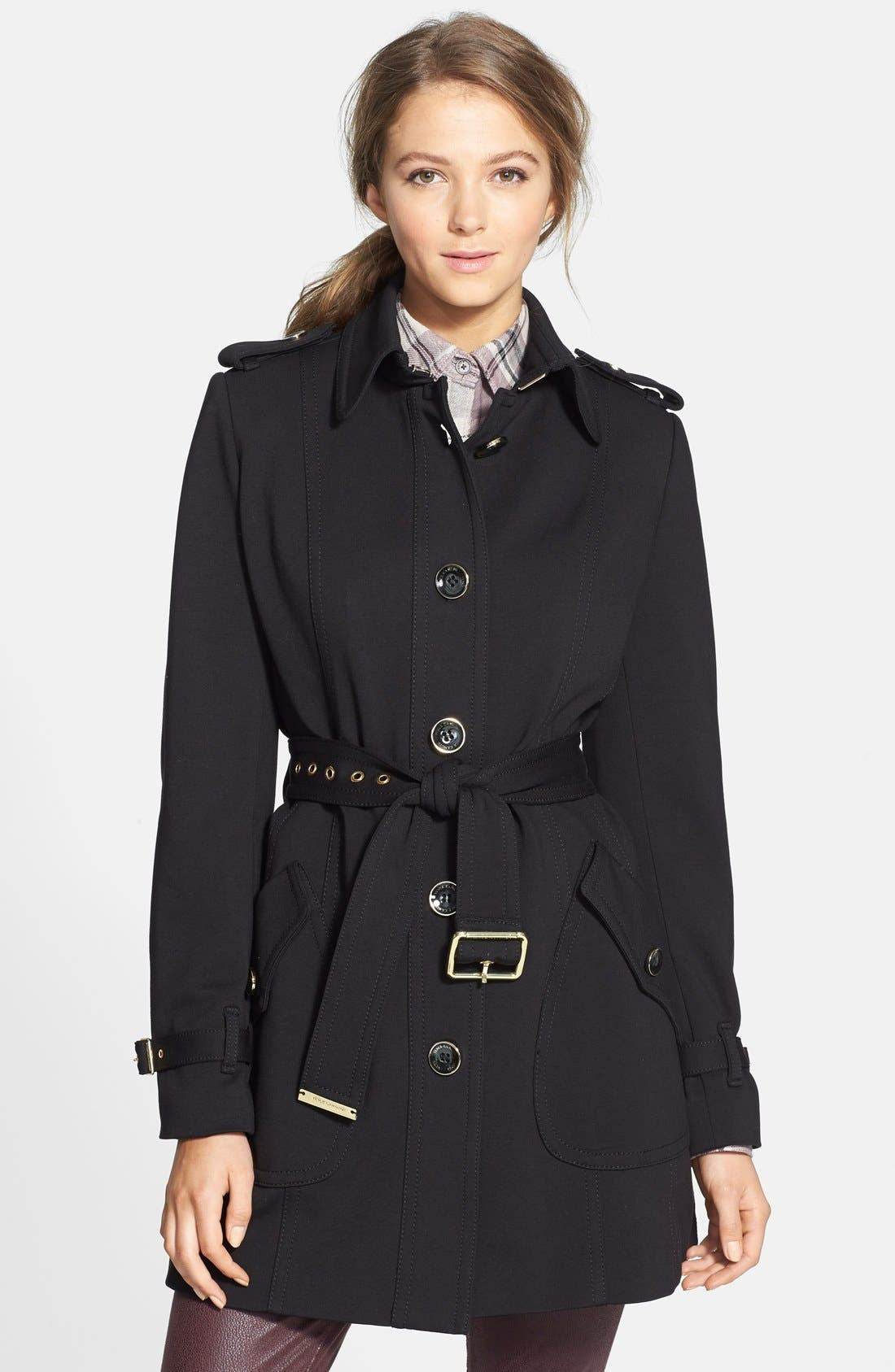 VINCE CAMUTO Single Breasted Soft Shell Trench Coat