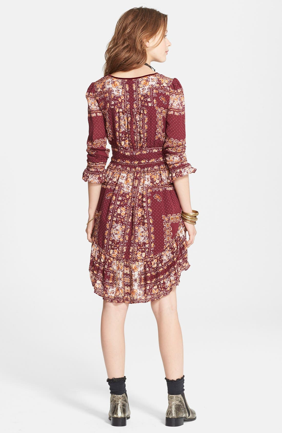 Alternate Image 2  - Free People 'Bridgette' Print Ruffle Hem Dress