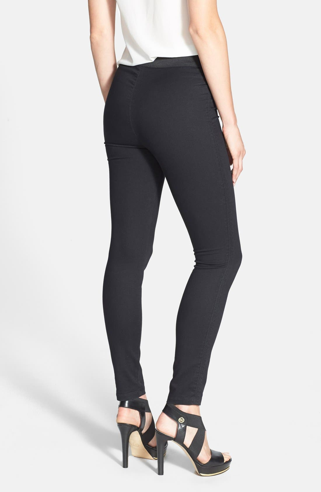 Alternate Image 2  - Two by Vince Camuto Back Seam Denim Leggings