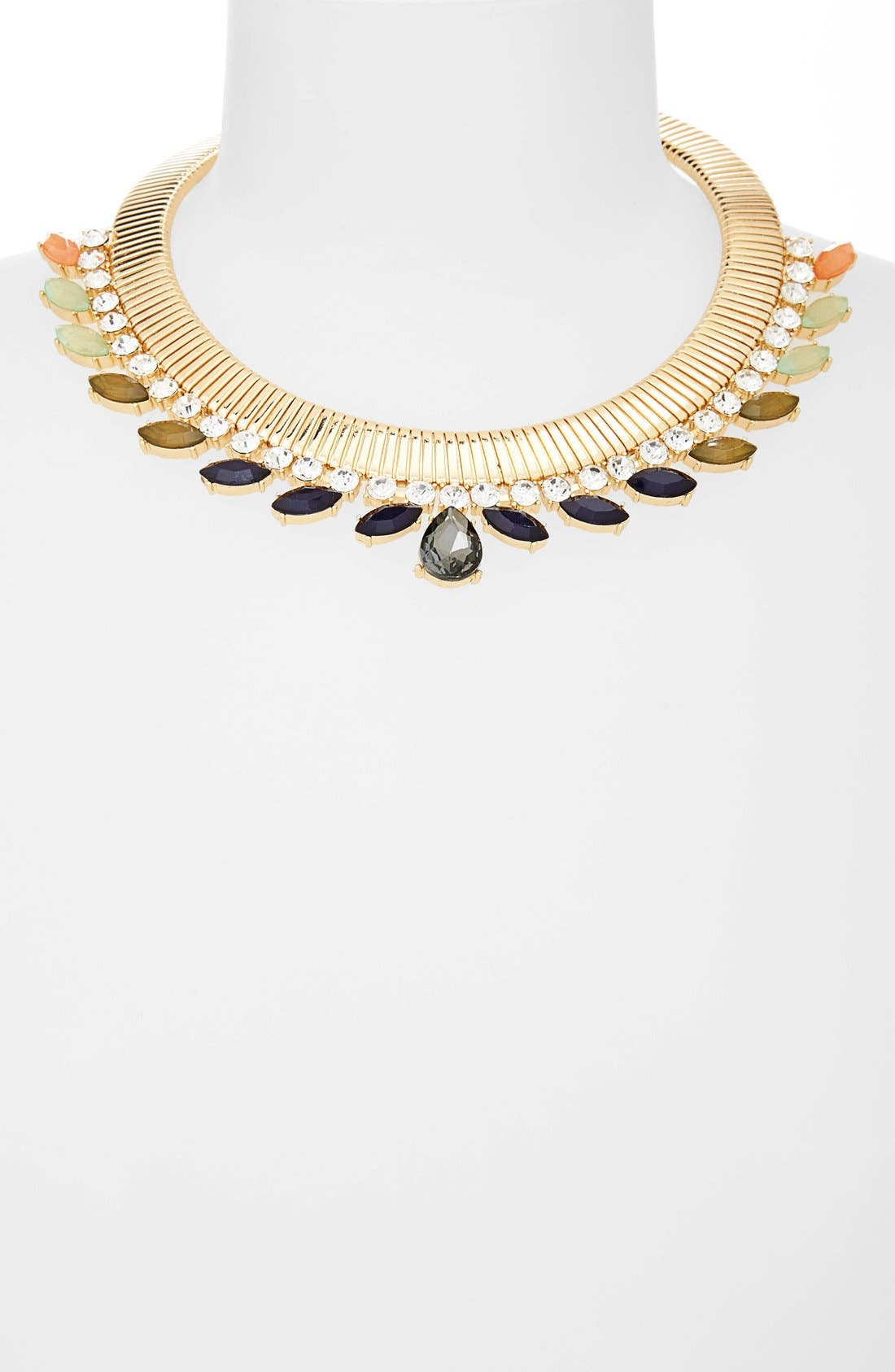 Alternate Image 2  - Natasha Couture Snake Chain Ombré Collar Necklace
