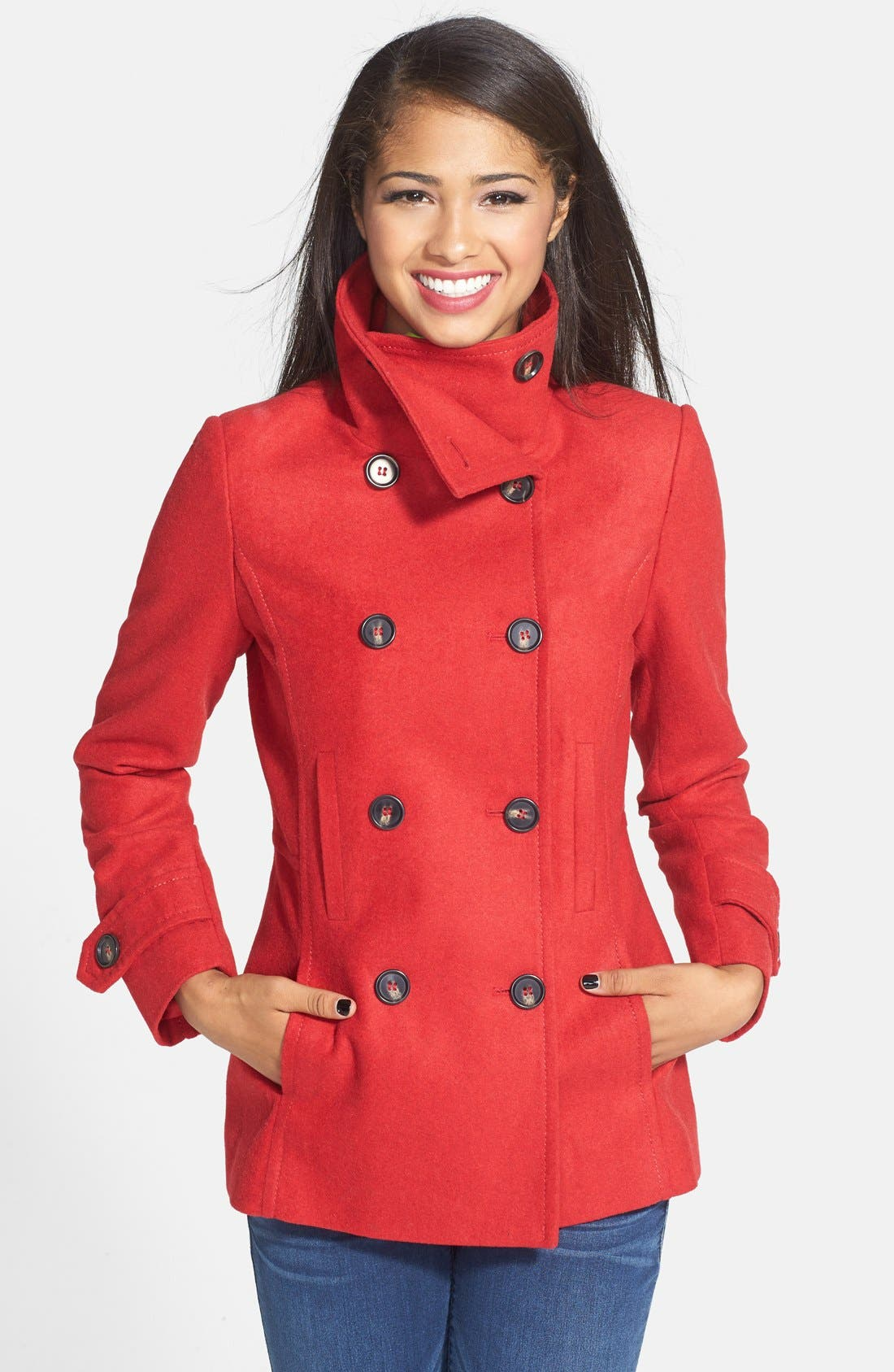 Alternate Image 1 Selected - Thread & Supply Double Breasted Peacoat