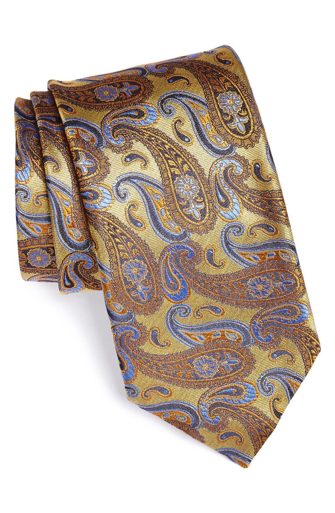 Main Image - Canali Paisley Woven Silk Tie