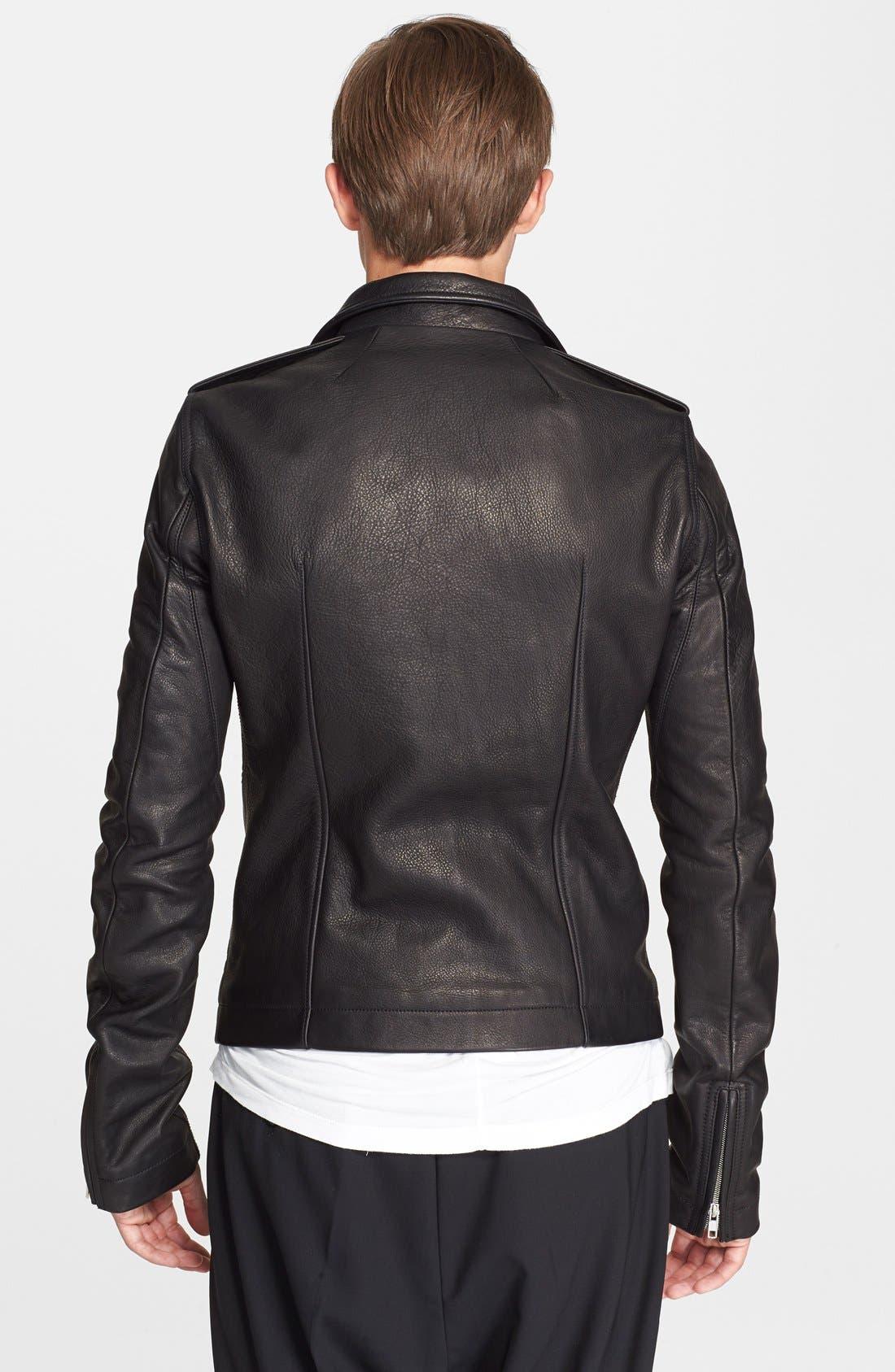 Alternate Image 2  - Rick Owens 'Stooges' Leather Biker Jacket