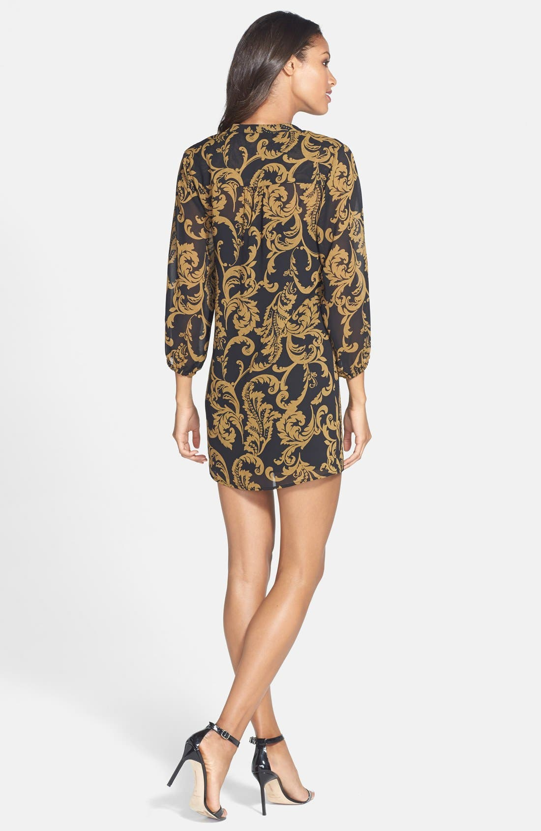 Alternate Image 2  - CeCe by Cynthia Steffe 'Kai' Print Chiffon Tunic Dress