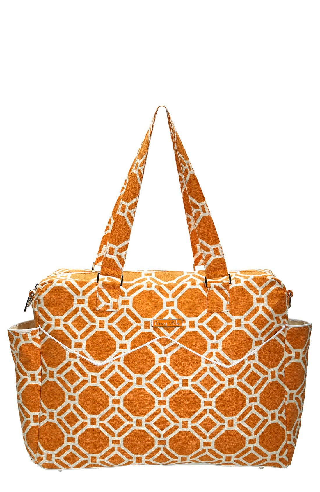 Main Image - Foxy Vida 'Lattice' Print Satchel