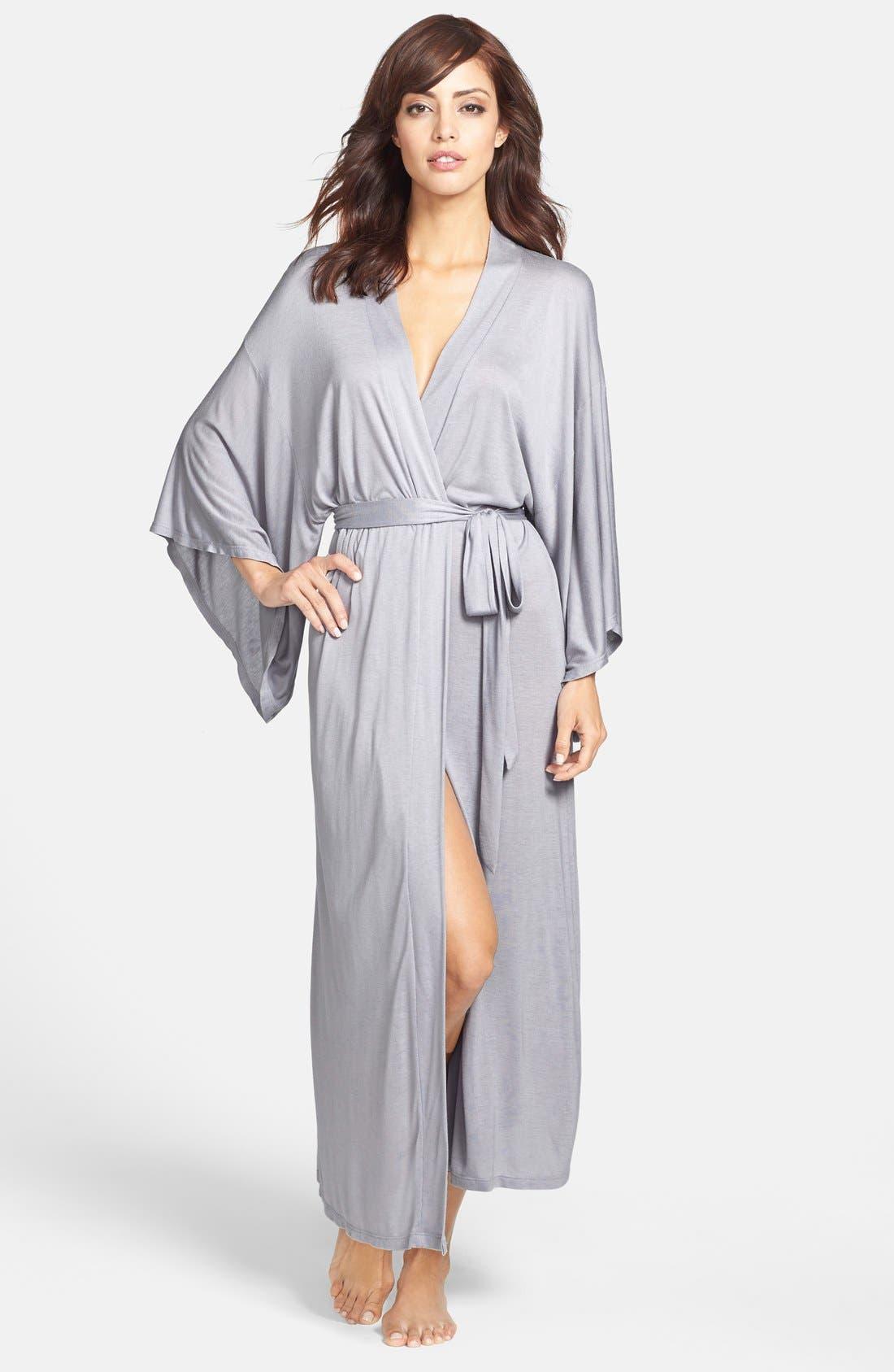 'Colette' Kimono Sleeve Long Robe,                         Main,                         color, Blue Shadow