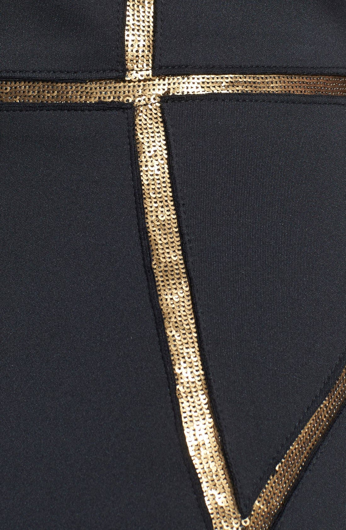 Alternate Image 4  - Tadashi Shoji Sequin Trim Neoprene Sheath Dress