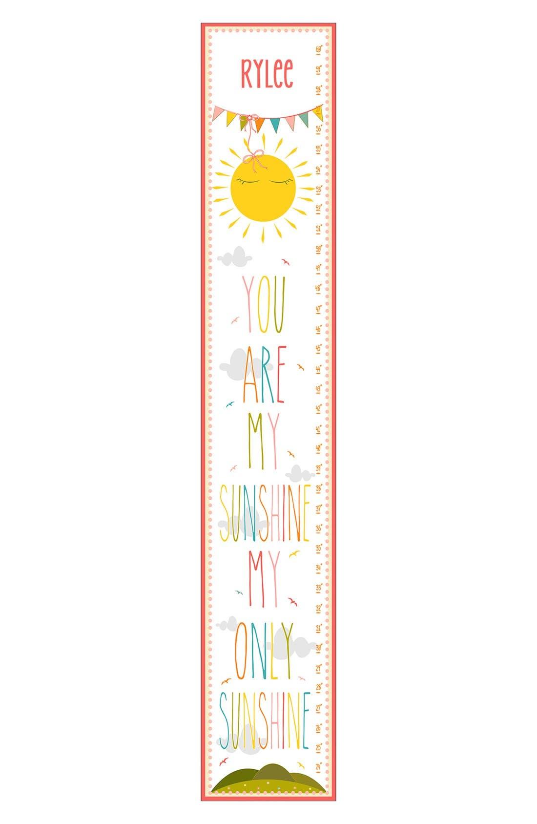 Main Image - Stupell 'Sunshine' Personalized Growth Chart