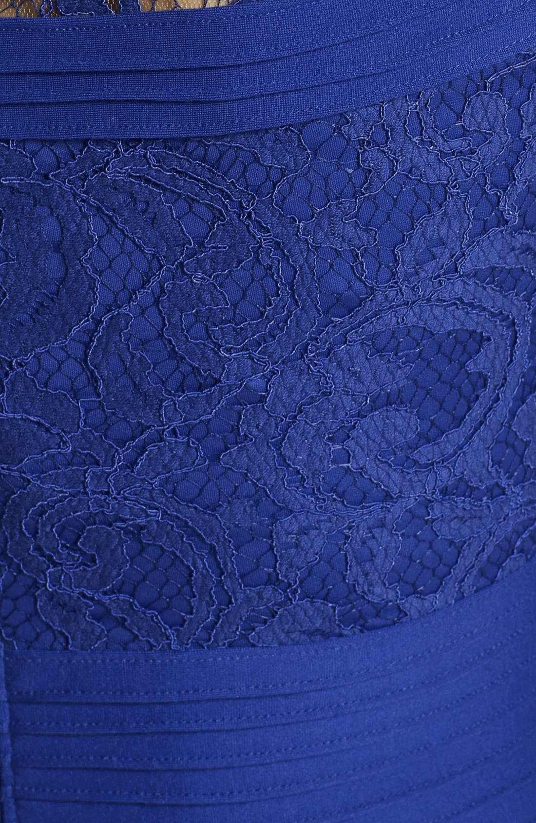 Alternate Image 4  - Tadashi Shoji Cap Sleeve Lace Fit & Flare Dress (Regular & Petite)