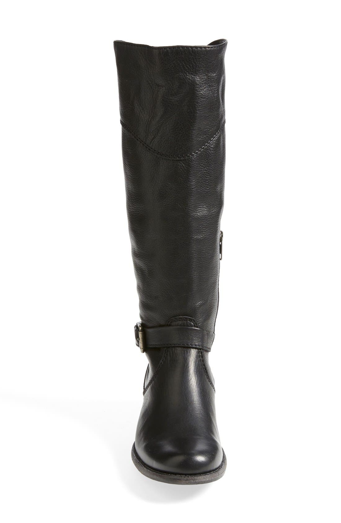 'Phillip' Riding Boot,                             Alternate thumbnail 3, color,                             Black