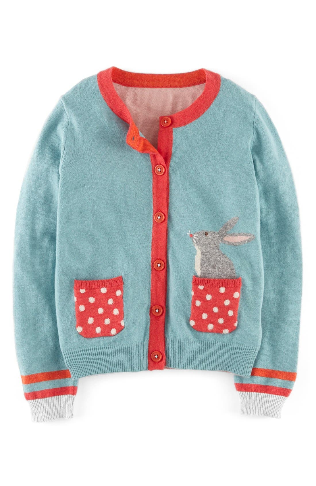 Alternate Image 1 Selected - Mini Boden Pet Cardigan (Toddler Girls, Little Girls & Big Girls)