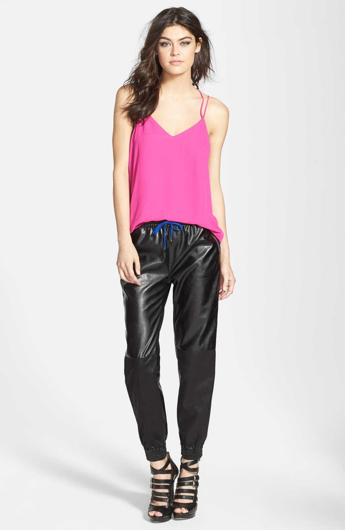 Alternate Image 4  - BLANKNYC 'Face Lift' Faux Leather Track Pants