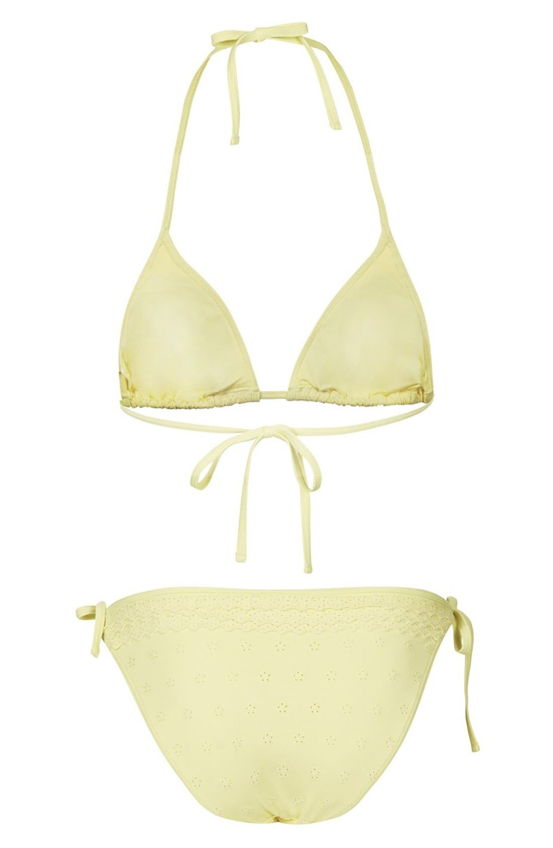 Alternate Image 2  - Topshop 'Broderie Frill' Eyelet Bikini