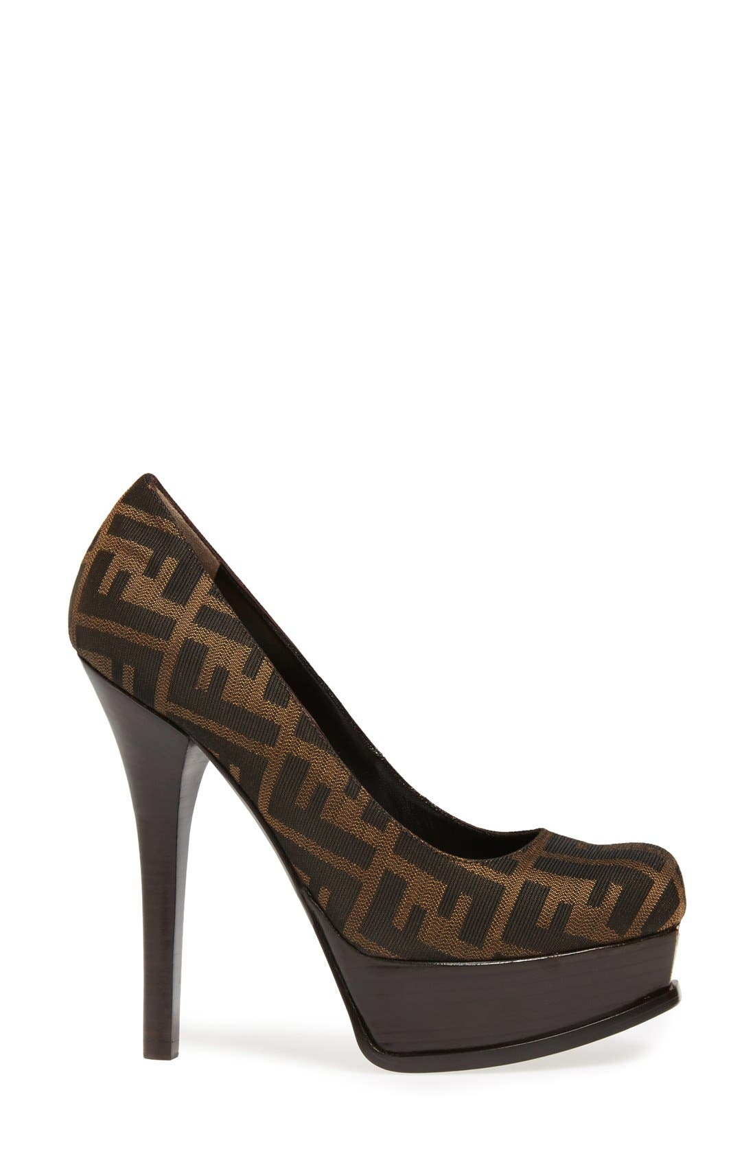 Alternate Image 4  - Fendi 'Fendista Zucca' Platform Pump