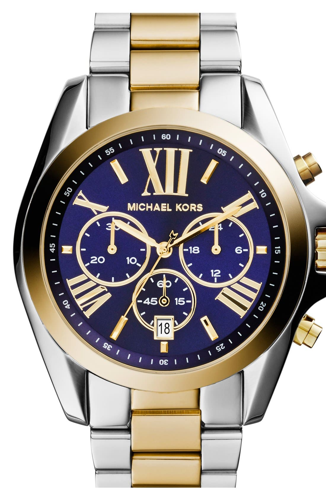 'Bradshaw' Chronograph Bracelet Watch, 43mm,                         Main,                         color, Silver/ Blue