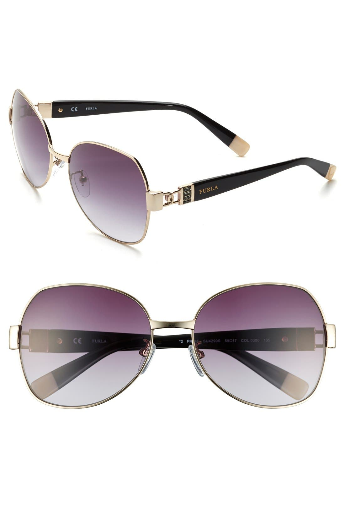 Main Image - Furla 59mm Swarovski Crystal Sunglasses