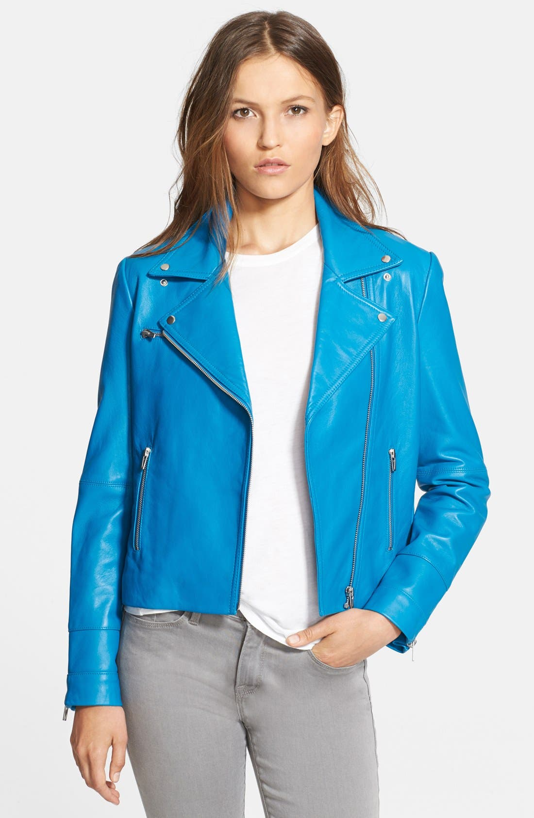 Alternate Image 1 Selected - Veda Leather Moto Jacket