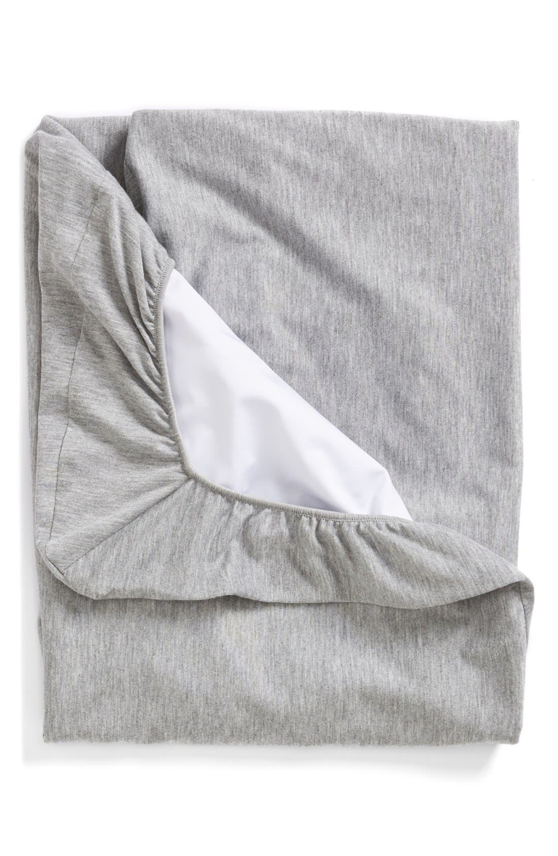 'SENA<sup>™</sup> mini' Waterproof Fitted Sheet,                             Alternate thumbnail 2, color,                             Grey