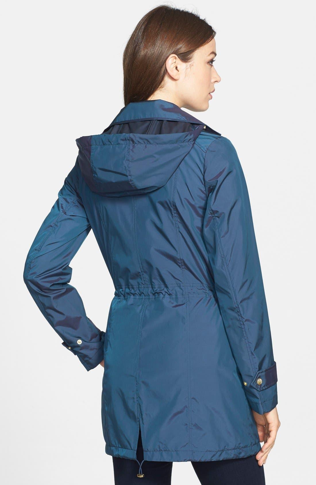 Alternate Image 2  - Cole Haan Packable Raincoat with Detachable Hood