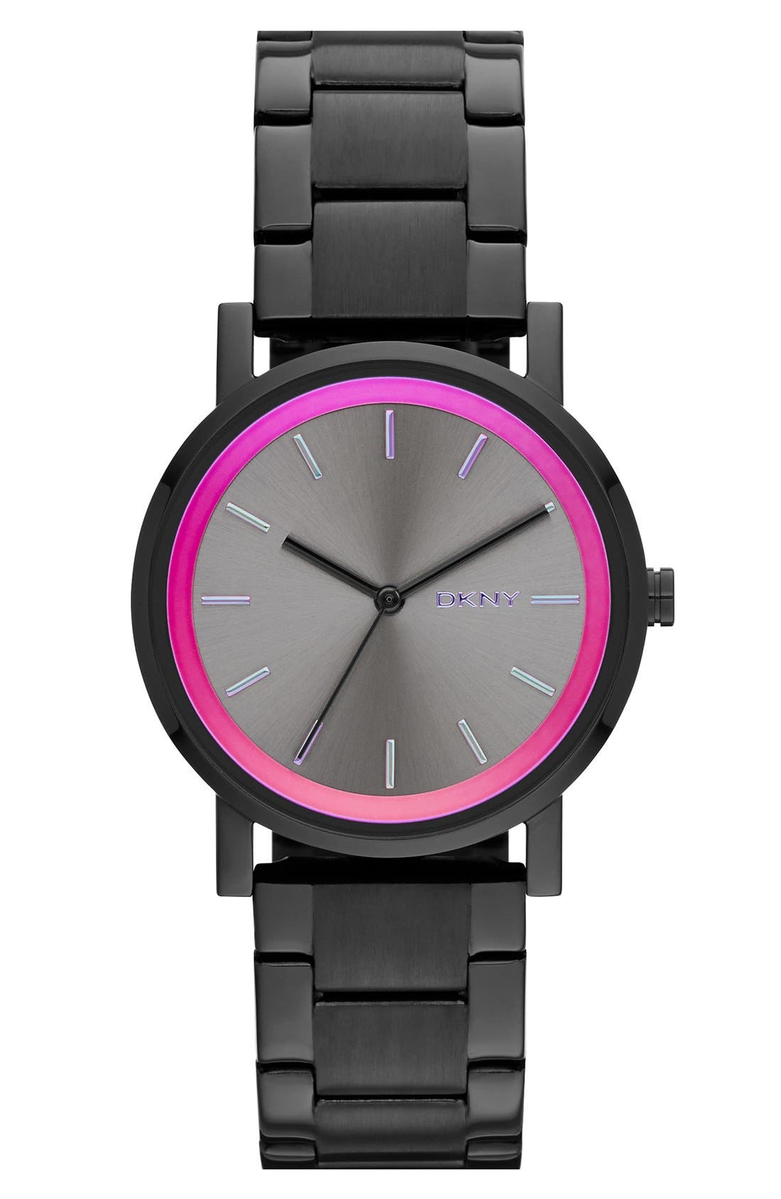 Alternate Image 1 Selected - DKNY 'Soho' Iridescent Accent Bracelet Watch, 34mm