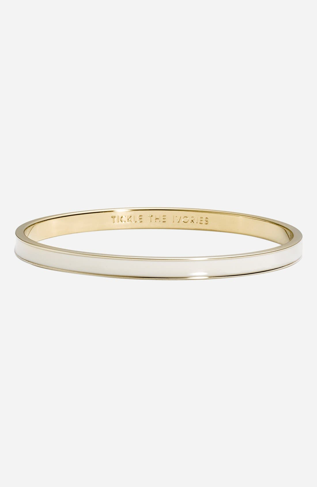 Alternate Image 1 Selected - kate spade new york 'idiom - hot to trot' ultra thin enamel bangle