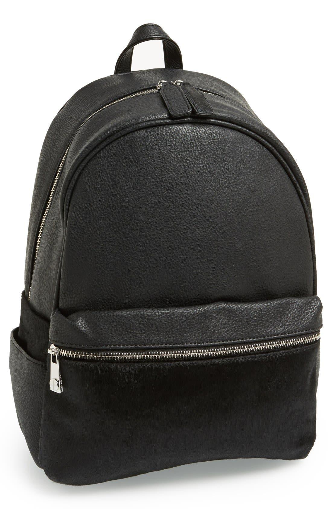 Alternate Image 1 Selected - Steve Madden Genuine Calf Hair Backpack