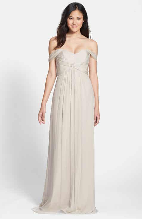 Amsale Convertible Crinkled Silk Chiffon Gown by AMSALE