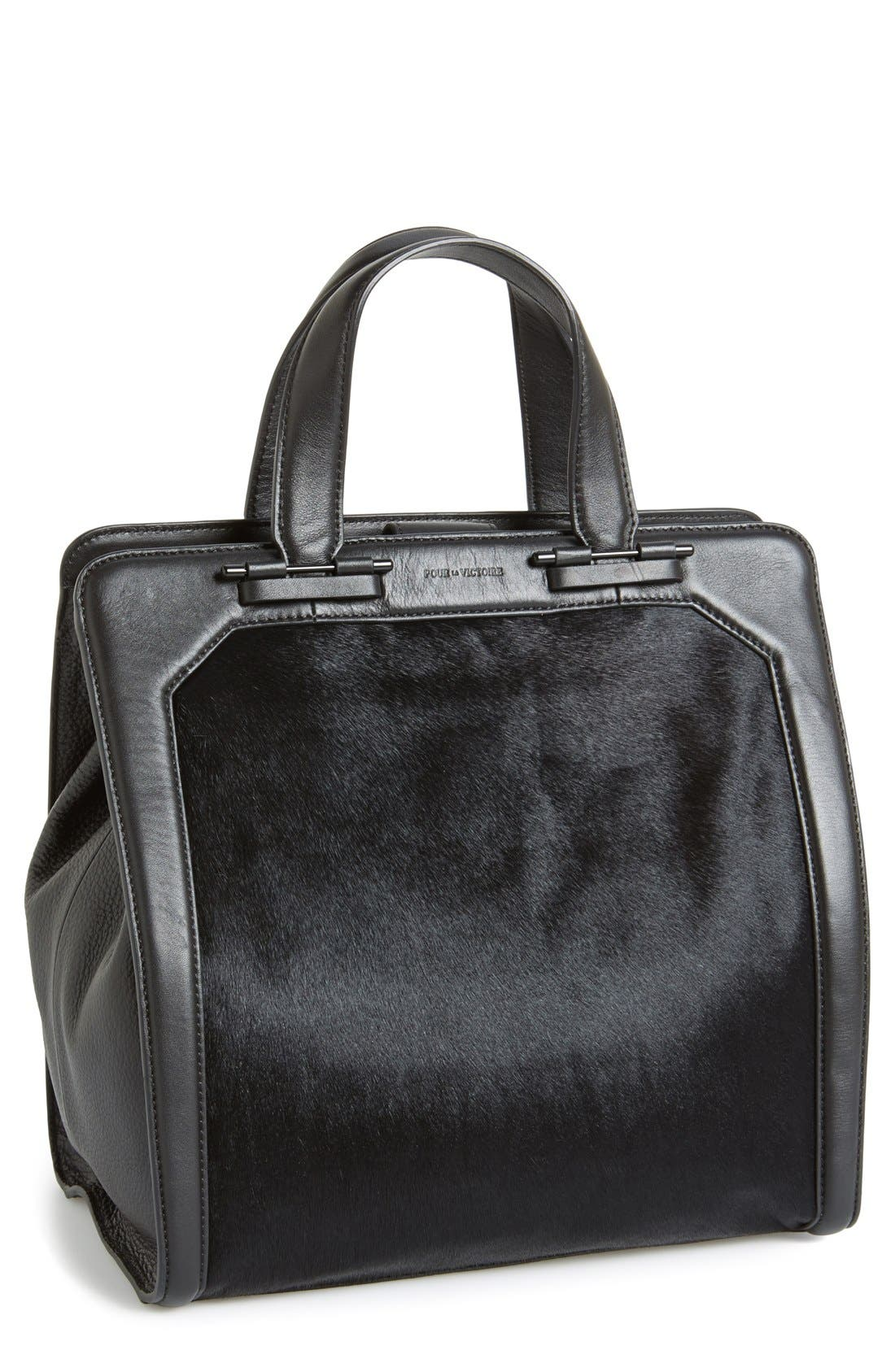 Main Image - Pour la Victoire 'Servant' Leather & Genuine Calf Hair Tote