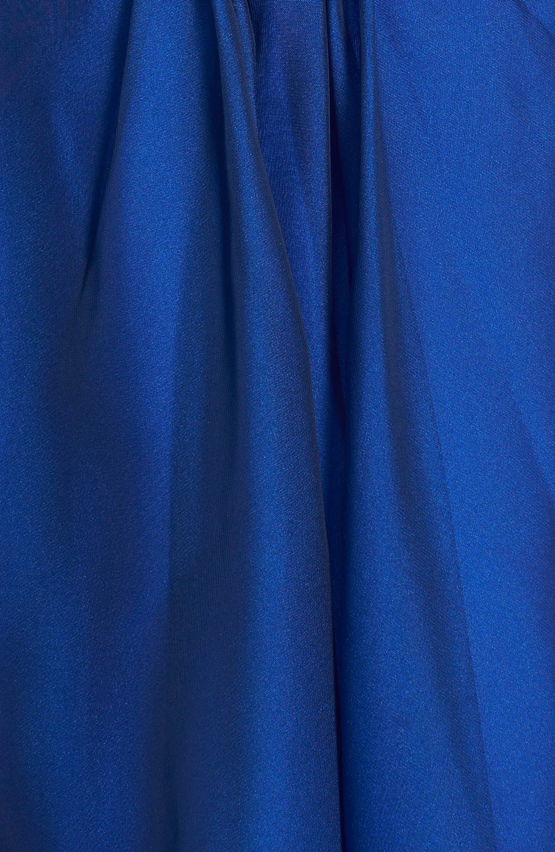 Alternate Image 4  - La Femme Embellished Cutout Chiffon Fit & Flare Dress