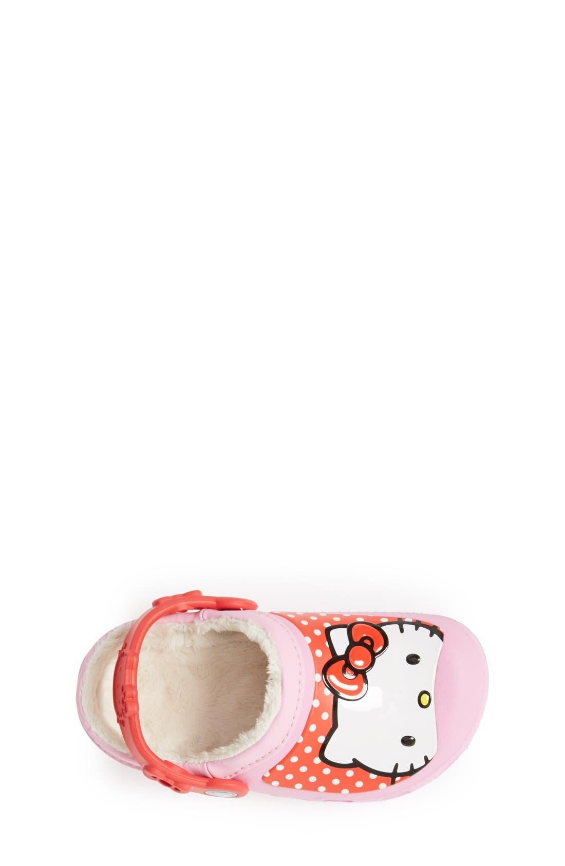 Alternate Image 3  - CROCS™ 'Hello Kitty® - Dots' Slip-On (Walker, Toddler & Little Kid)