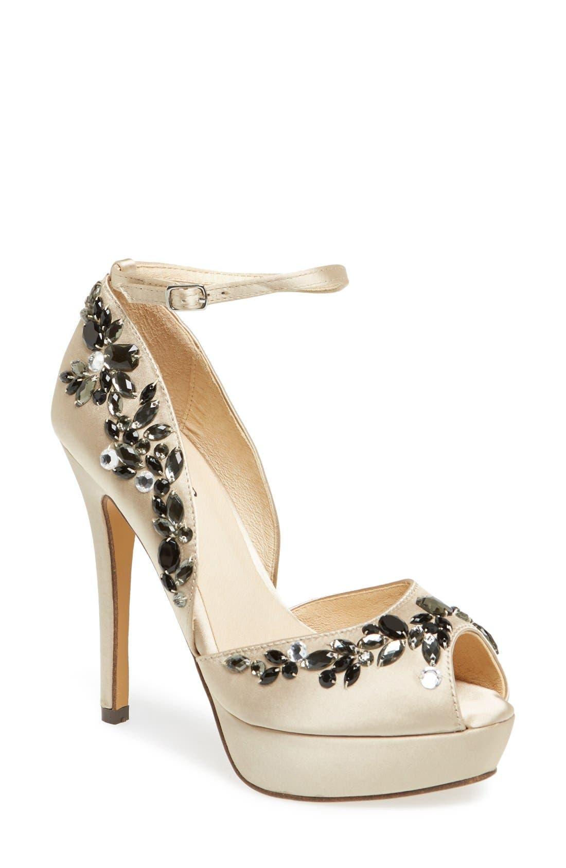 Alternate Image 1 Selected - Menbur 'D Olivet' Platform Ankle Strap Sandal (Women)